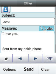 Nokia Asha 300 - E-mail - Sending emails - Step 12
