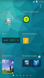 Samsung Galaxy S 5 - Startanleitung - Installieren von Widgets und Apps auf der Startseite - Schritt 5