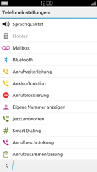 BlackBerry Leap - Anrufe - Rufumleitungen setzen und löschen - 6 / 13