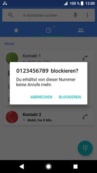 Sony Xperia XA2 Ultra - Anrufe - Anrufe blockieren - Schritt 6
