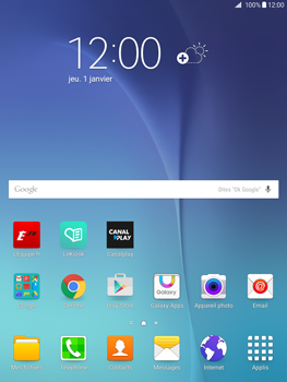Samsung Galaxy Tab A - Photos, vidéos, musique - Regarder la TV - Étape 1
