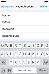 Apple iPhone 4 S mit iOS 7 - E-Mail - Konto einrichten - Schritt 9