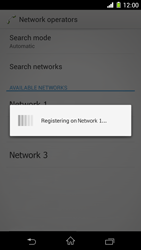 Sony Xperia Z1 - Network - Manual network selection - Step 9