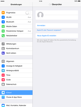 Apple iPad mini 2 - iOS 8 - Apps - Konfigurieren des Apple iCloud-Dienstes - Schritt 5