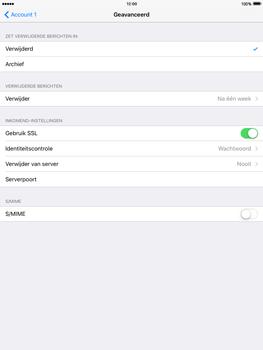 Apple iPad 4 iOS 9 - E-mail - Account instellen (POP3 met SMTP-verificatie) - Stap 22