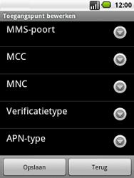 LG P350 Optimus Me - MMS - handmatig instellen - Stap 11