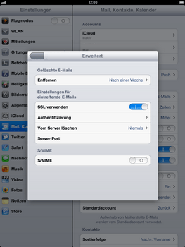 Apple iPad 2 - E-Mail - Konto einrichten - Schritt 20