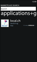 Nokia Lumia 800 / Lumia 900 - Applications - Installing applications - Step 7