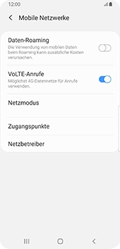 Samsung Galaxy S9 - Android Pie - Ausland - Auslandskosten vermeiden - Schritt 9
