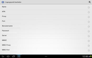 Samsung N8000 Galaxy Note 10-1 - Internet - Manuelle Konfiguration - Schritt 11