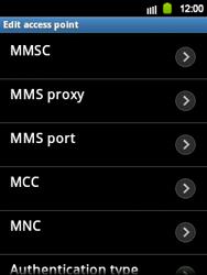 Samsung S5360 Galaxy Y - MMS - Manual configuration - Step 9