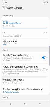 Samsung Galaxy Note 10 - Internet und Datenroaming - Prüfen, ob Datenkonnektivität aktiviert ist - Schritt 7