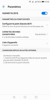 Huawei Y6 (2018) - Internet et connexion - Partager votre connexion en Wi-Fi - Étape 10