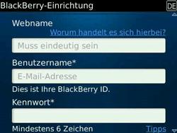 BlackBerry Bold - Apps - Konto anlegen und einrichten - 11 / 19