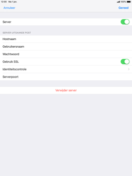 Apple ipad-air-2-ios-12 - E-mail - Account instellen (POP3 met SMTP-verificatie) - Stap 18