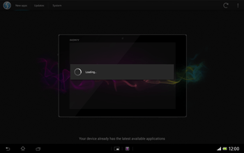Sony Xperia Tablet Z LTE - Software - Installing software updates - Step 7