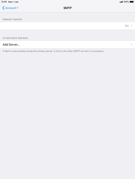 Apple iPad mini 4 iOS 12 - E-mail - Manual configuration POP3 with SMTP verification - Step 21