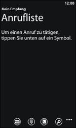 Nokia Lumia 800 - Anrufe - Rufumleitungen setzen und löschen - 0 / 0