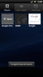 Sony Xperia Arc S - Internet - Navigation sur Internet - Étape 10