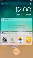 Apple iPhone 7 - iOS 11 - Sperrbildschirm und Benachrichtigungen - 0 / 0
