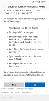 Samsung Galaxy S8 - Android Oreo - E-Mail - 032c. Email wizard - Outlook - Schritt 9