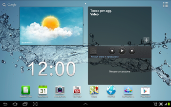 Samsung Galaxy Tab 2 10.1 - Operazioni iniziali - Installazione di widget e applicazioni nella schermata iniziale - Fase 8