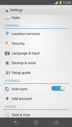 Sony Xperia Z1 Compact - Mobile phone - Resetting to factory settings - Step 4