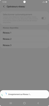 Samsung Galaxy Note 20 Ultra 5G - Réseau - Sélection manuelle du réseau - Étape 13