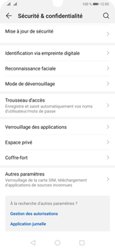 Huawei P30 Pro - Sécuriser votre mobile - Personnaliser le code PIN de votre carte SIM - Étape 4