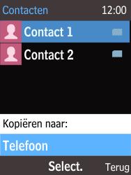 Nokia 225 (Type RM-1012) - Contacten en data - Contacten kopiëren van SIM naar toestel - Stap 7