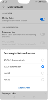 Huawei P20 Pro - Android Pie - Netzwerk - So aktivieren Sie eine 4G-Verbindung - Schritt 6