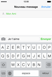 Apple iPhone 4S - Contact, Appels, SMS/MMS - Envoyer un SMS - Étape 8