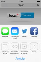 Apple iPhone 4S iOS 7 - Internet et roaming de données - navigation sur Internet - Étape 15