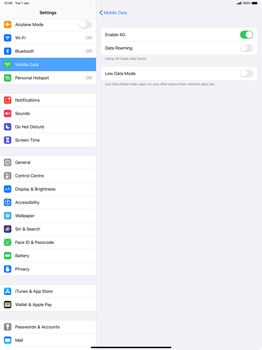 Apple iPad Pro 12.9 (1st gen) - ipados 13 - Internet and data roaming - Disabling data roaming - Step 6