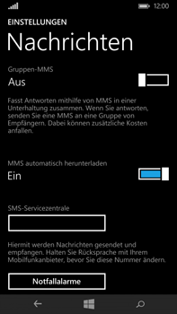 Microsoft Lumia 640 XL - SMS - Manuelle Konfiguration - Schritt 9