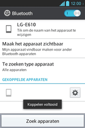 LG E610 Optimus L5 - Bluetooth - Koppelen met ander apparaat - Stap 9