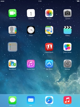 Apple iPad Retina iOS 7 - Getting started - Personalising your Start screen - Step 3