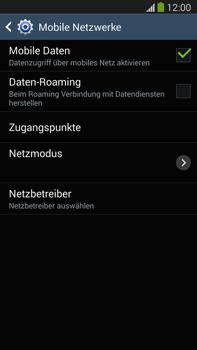 Samsung Galaxy Note III LTE - Internet und Datenroaming - Prüfen, ob Datenkonnektivität aktiviert ist - Schritt 7