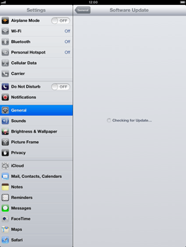 Apple iPad Retina - Software - Installing software updates - Step 7
