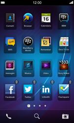 BlackBerry Z10 - Operazioni iniziali - Personalizzazione della schermata iniziale - Fase 3