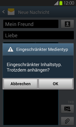 Samsung Galaxy S2 mit Android 4.1 - MMS - Erstellen und senden - 19 / 22