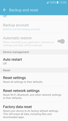 Samsung Galaxy S7 - Mobile phone - Resetting to factory settings - Step 6