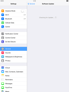 Apple iPad Air - Software - Installing software updates - Step 6