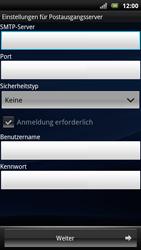 Sony Ericsson Xperia Arc S - E-Mail - Konto einrichten - Schritt 9