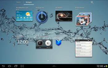 Samsung Galaxy Tab 2 10.1 - Startanleitung - Installieren von Widgets und Apps auf der Startseite - Schritt 6