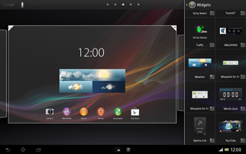 Sony Xperia Tablet Z LTE - Getting started - Installing widgets and applications on your start screen - Step 5
