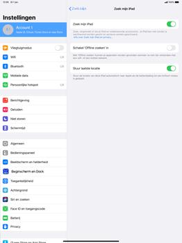 Apple ipad-pro-12-9-inch-2018-Model A1895-ipados-13 - Beveiliging en ouderlijk toezicht - Zoek mijn iPad inschakelen - Stap 11