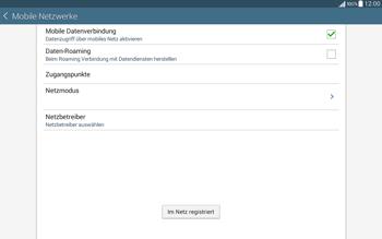Samsung T535 Galaxy Tab 4 10.1 - Netzwerk - Manuelle Netzwerkwahl - Schritt 12