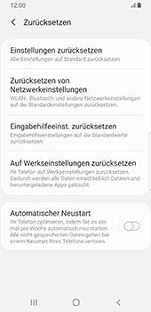 Samsung Galaxy S9 - Android Pie - Fehlerbehebung - Handy zurücksetzen - Schritt 8