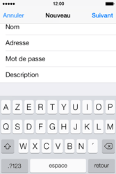 Apple iPhone 4S iOS 7 - E-mail - configuration manuelle - Étape 13